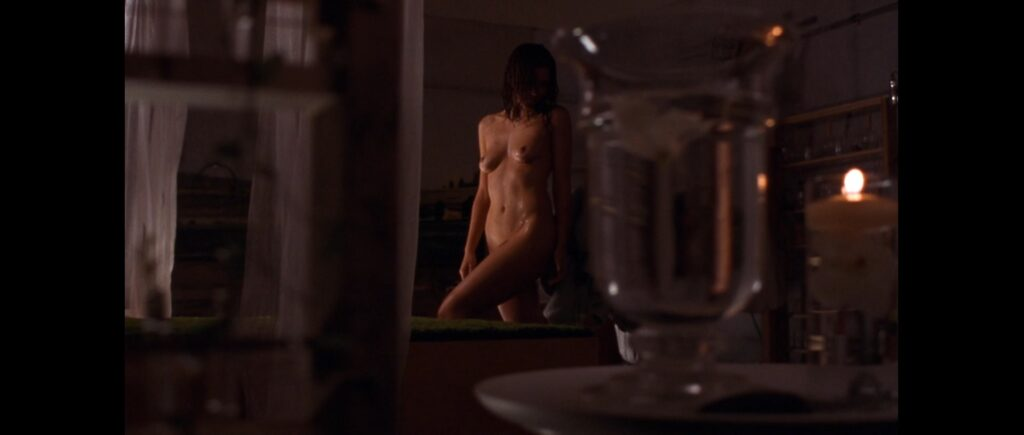 Maggie Gyllenhaal full frontal in Secretary (2002)